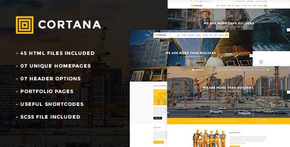 Cortana - Construction HTML5 Template