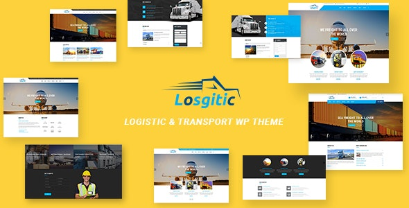 Logistic - Warehouse & Transport WP theme - Business Corporate