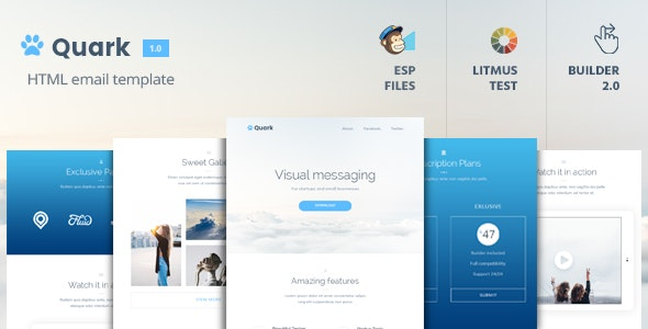 Quark - Multipurpose Email Template + Builder 2.0 - Email Templates Marketing
