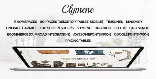 Clymene - Multipurpose Muse Template - Creative Muse Templates