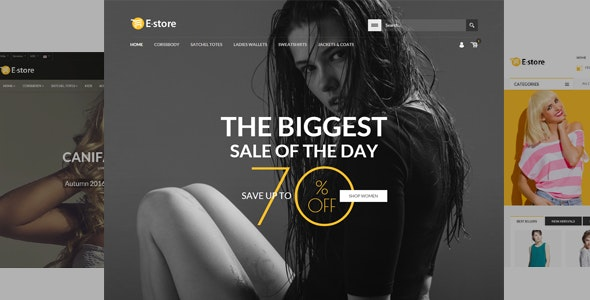 E-Store - Responsive HTML Template - Retail Site Templates