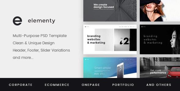Elementy – Multipurpose PSD Template - Corporate Photoshop