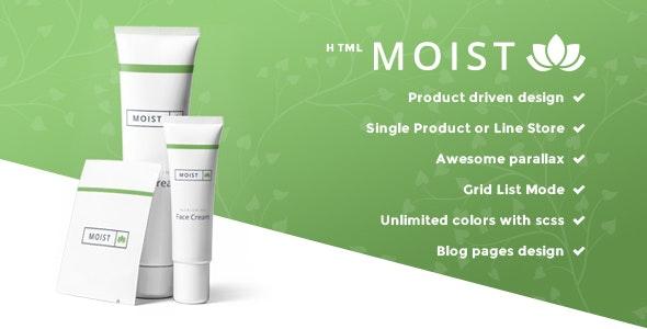 Moist - Single Product E-commerce Website Template - Health & Beauty Retail