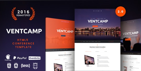 Ventcamp - Event and Conference Template - Events Entertainment