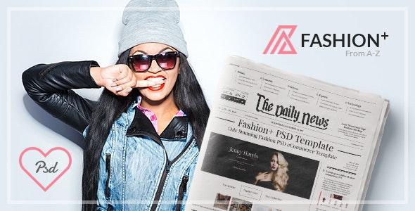 FashionPlus - Creative eCommerce PSD Template - Fashion Retail