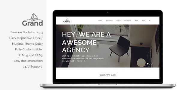 Grand - Creative Responsive Multipurpose Template - Creative Site Templates