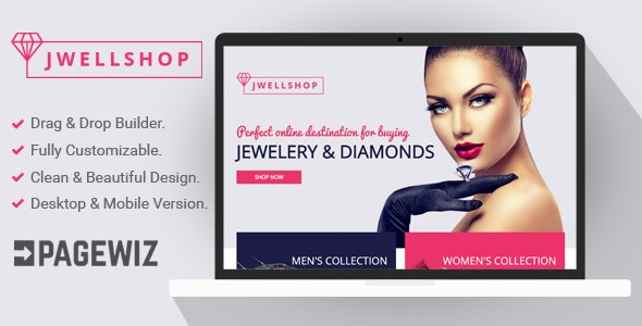 Jwell Shop - Pagewiz Landing Page Template - Pagewiz Marketing