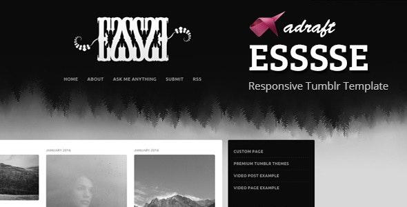 ESSSSE - Responsive Tumblr Theme - Blog Tumblr
