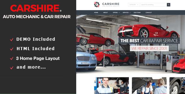 Car Shire || Auto Mechanic & Car Repair Drupal 7 Theme
