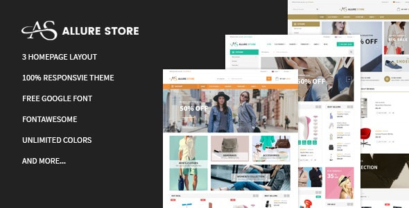 Allurestore - Multipurpose Responsive Magento Theme  - Magento eCommerce
