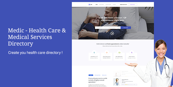 Medic - Health Care & Medical Services Directory  - Corporate PSD Templates