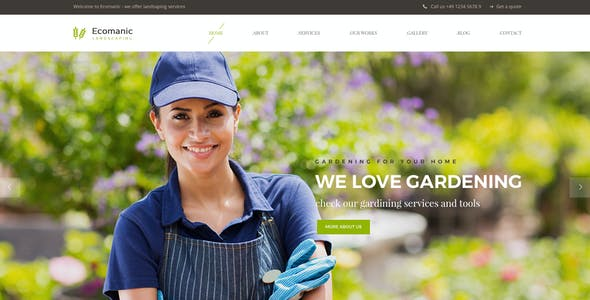 Ecomanic - Landscaping PSD Template