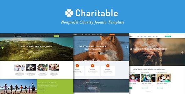 Charitable Responsive Nonprofit Charity Joomla Template - Nonprofit Joomla