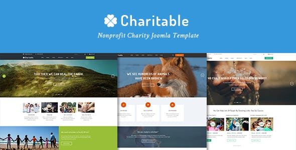 Charitable Responsive Nonprofit Charity Joomla Template