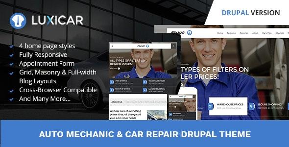 Luxicar Automotive & Business Drupal Theme - Corporate Drupal