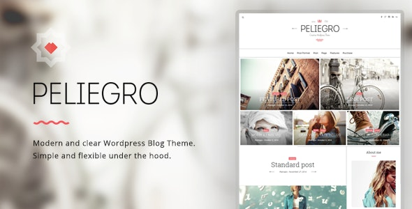 Peliegro - Clean Personal WordPress Blog Theme - Personal Blog / Magazine