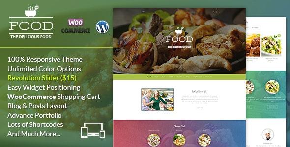Food A Delicious WordPress Theme - Food Retail