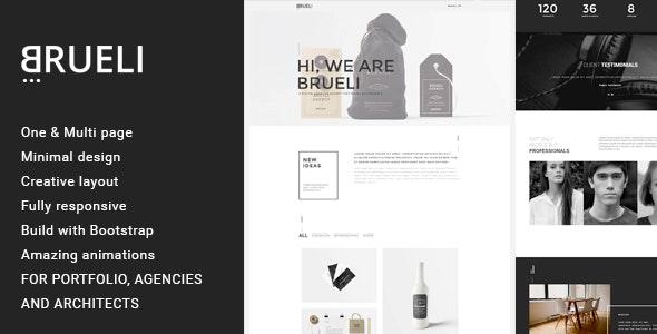 Brueli - Minimal Portfolio / Agency / Architect Template - Creative Site Templates