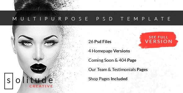 Solitude - Multipurpose PSD Template - Creative Photoshop