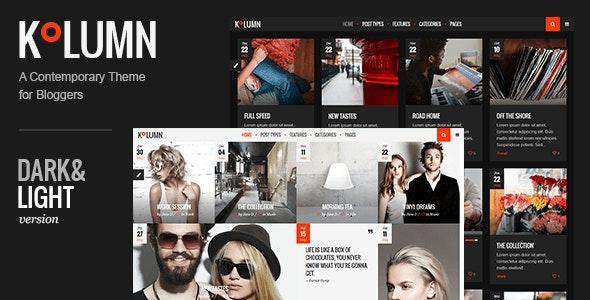 Kolumn - Blog Theme - Personal Blog / Magazine