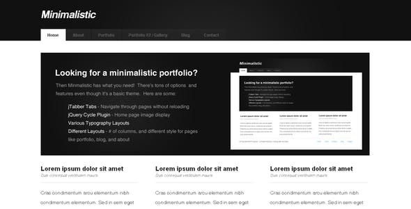 Minimalistic - Portfolio & Business