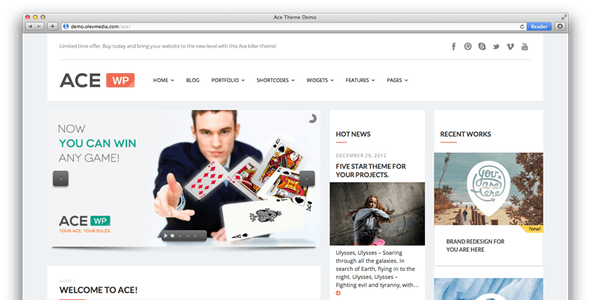 Ace — Responsive All Purpose Wordpress Theme