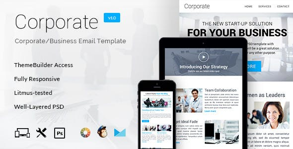 Corporate – Multipurpose B2B E-newsletter + Builder Access
