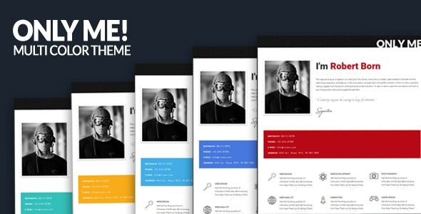 Only Me - Personal & Responsive Template - Personal Site Templates