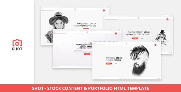 Shot - Stock Content & Portfolio HTML Template