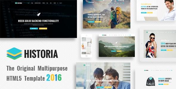 Historia - Responsive Multi-Purpose HTML Template - Corporate Site Templates