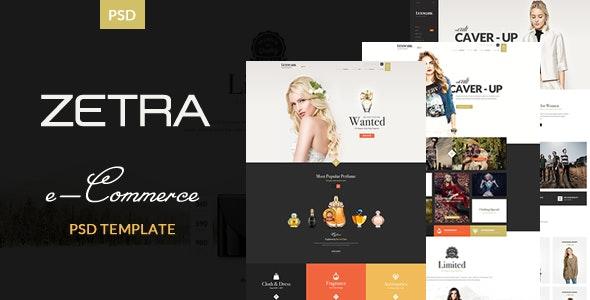 Zetra - eCommerce PSD Template - Retail Photoshop