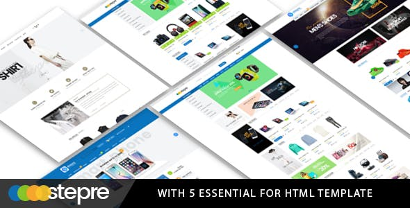 Stepre - Fashion Electronics eCommerce HTML Template