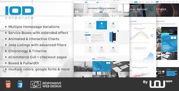 IOD - Corporate HTML Template - Corporate Site Templates