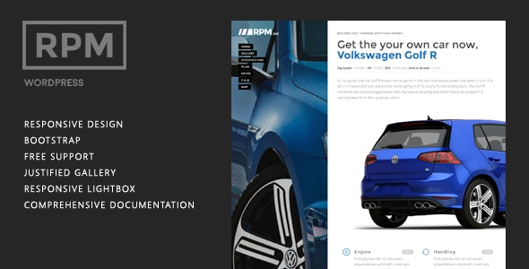 Car and Motorcycle Dealer Landing Page Wordpress - RPM - Business Corporate