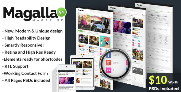 Magalla Magazine, News and Business Blog HTML - Entertainment Site Templates