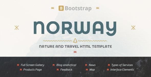 NorwayTheme - Nature Travel Template - Travel Retail