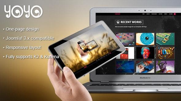 JSN Yoyo - Responsive & Creative One-Page Joomla Template - Portfolio Creative