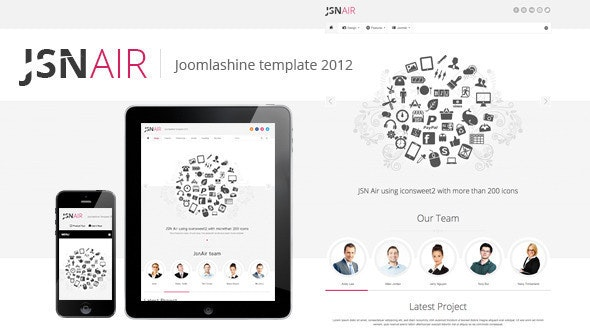 JSN Air - Responsive Business Portfolio Template  - Portfolio Creative