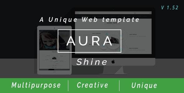 Aura Shine - A Unique Multipurpose Muse Template - Creative Muse Templates