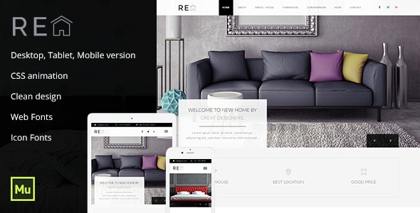Real Estate Muse Template - Corporate Muse Templates