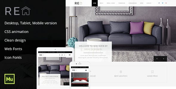 Real Estate Muse Template