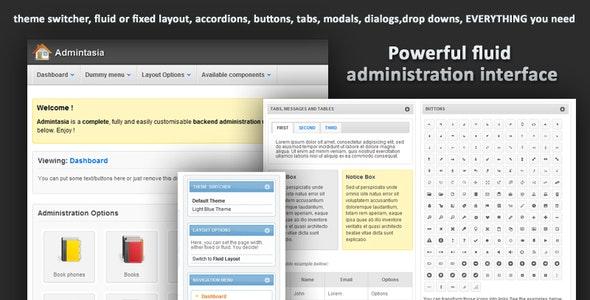 Admintasia-Powerful backend admin user interface - Admin Templates Site Templates