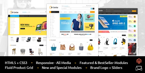 Catchy - Multipurpose Magento Theme - Technology Magento