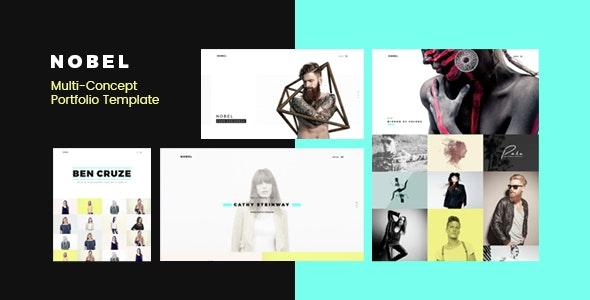 NOBEL - Minimal & Versatile Multi-Concept Portfolio / Agency Template  - Portfolio Creative