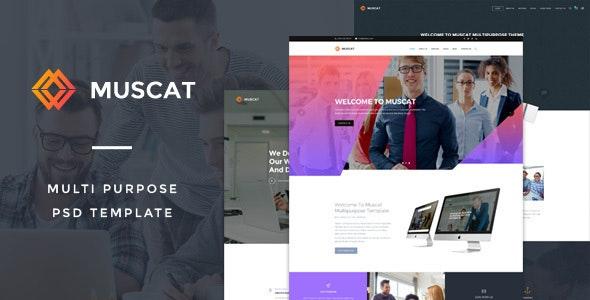 Muscat : Multi-Color Multipurpose PSD Template - Creative Photoshop