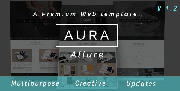 Aura Allure - Multipurpose Premium Muse Web Template - Creative Muse Templates