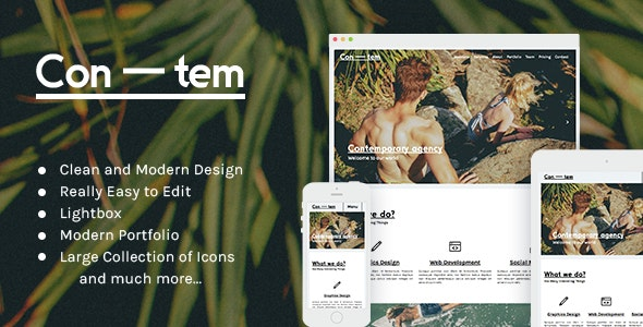 Contem - Modern Muse Theme - Creative Muse Templates