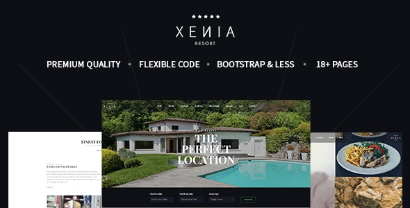 XENIA - Hotel & Resort Bootstrap Template - Travel Retail