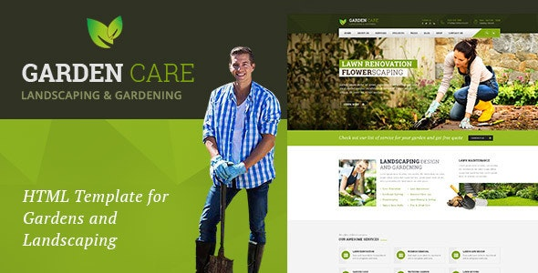 Garden Care - Gardening and Landscaping HTML Template - Business Corporate