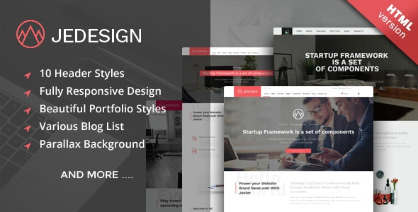 Jedesign - Multi-Purpose HTML Template - Corporate Site Templates
